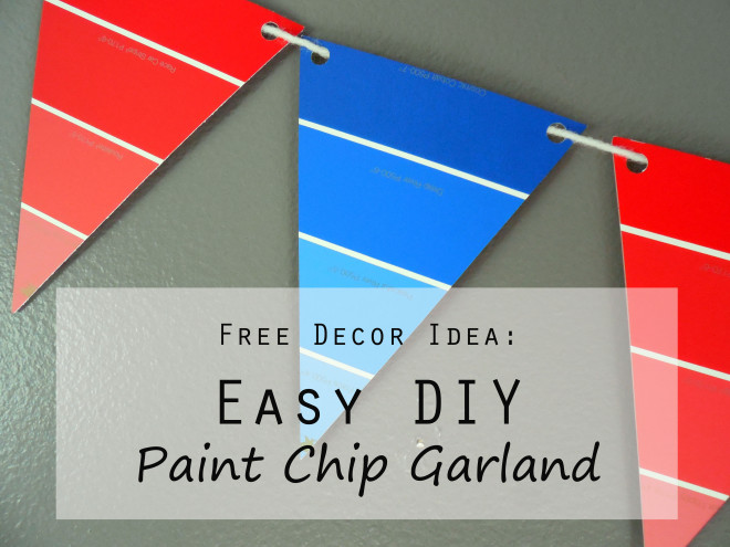 Easy DIY Paint Chip Garland